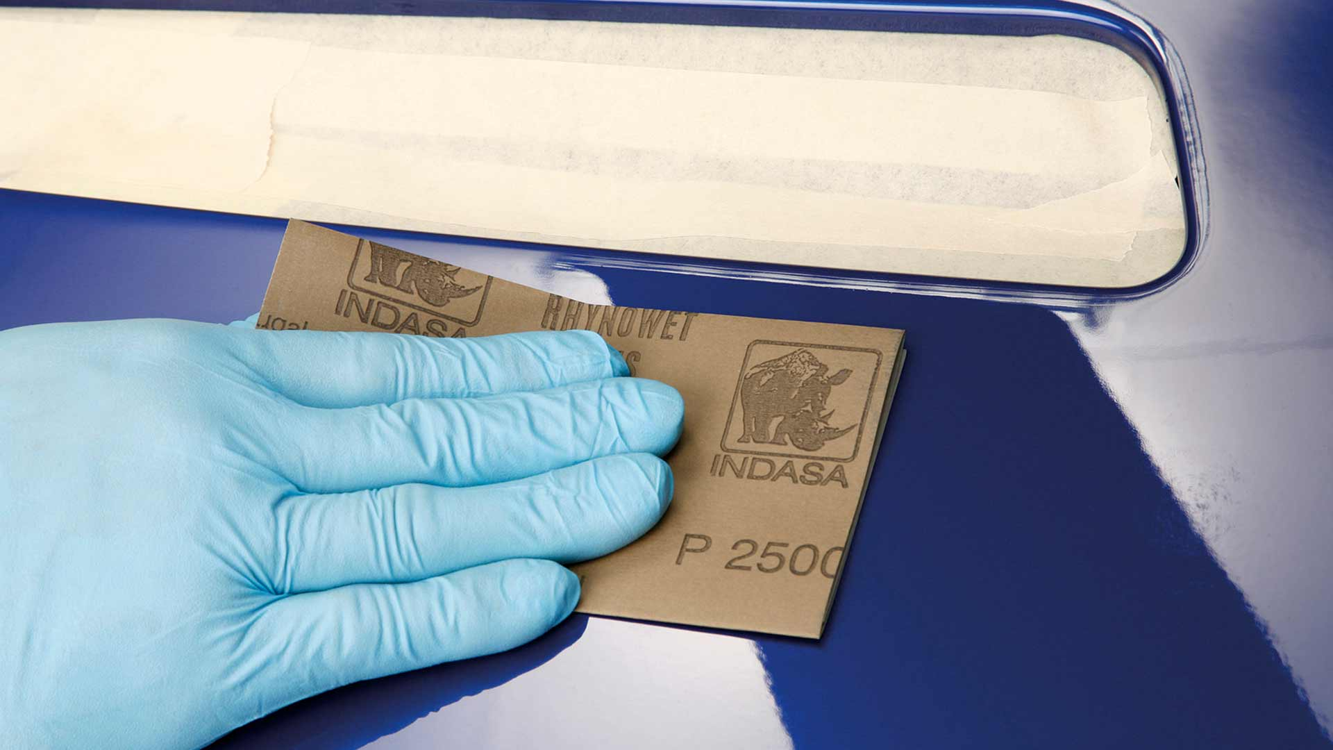 Abrasivos INDASA folha Rhynowet Plus Line a lixar superfície azul