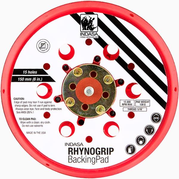 Suporte Rhynogrip 150 mm, 15F, Baixo Perfil Abrasivos INDASA