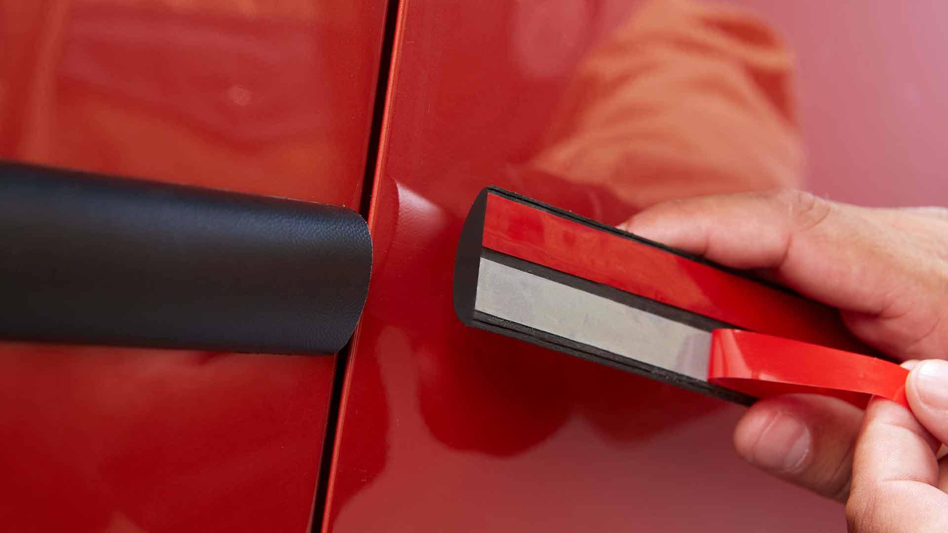 INDASA Abrasives Double Sided Acrylic Tape applying on car