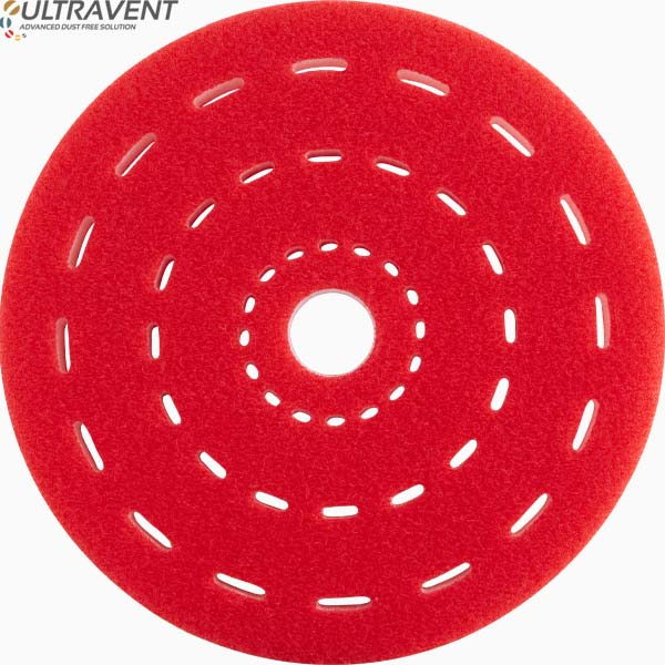 Red 5 mm interface ULTRAVENT for electric sanders