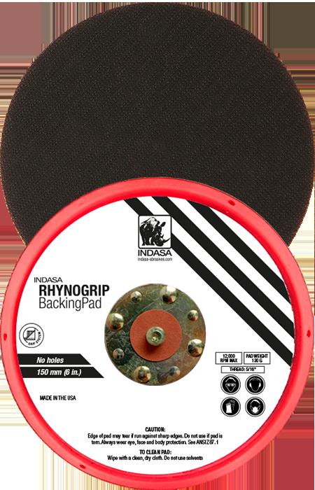 INDASA Abrasives rhynogrip backing pad 150mm low profile
