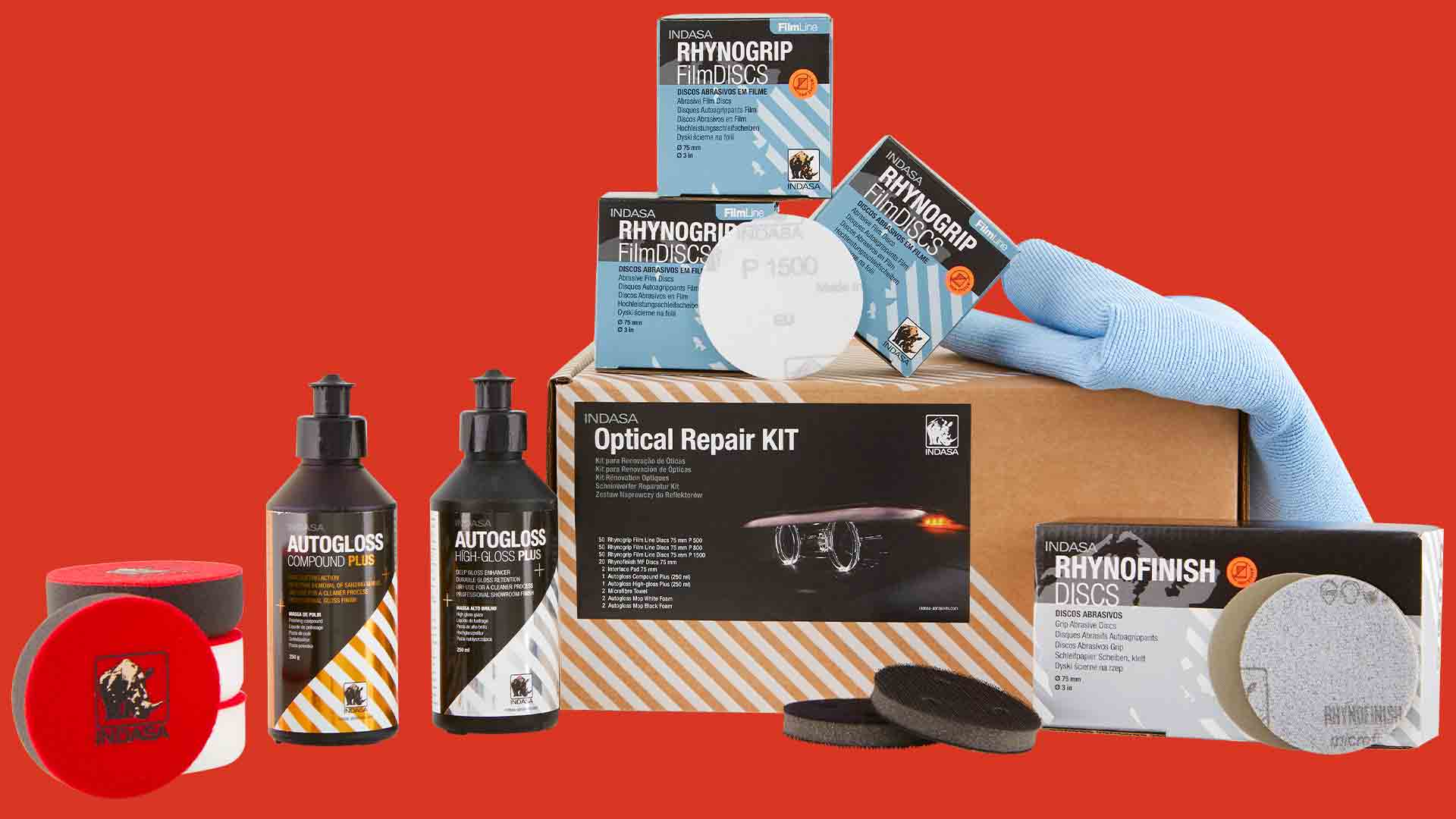 INDASA Abrasives Headlight Repair Kit