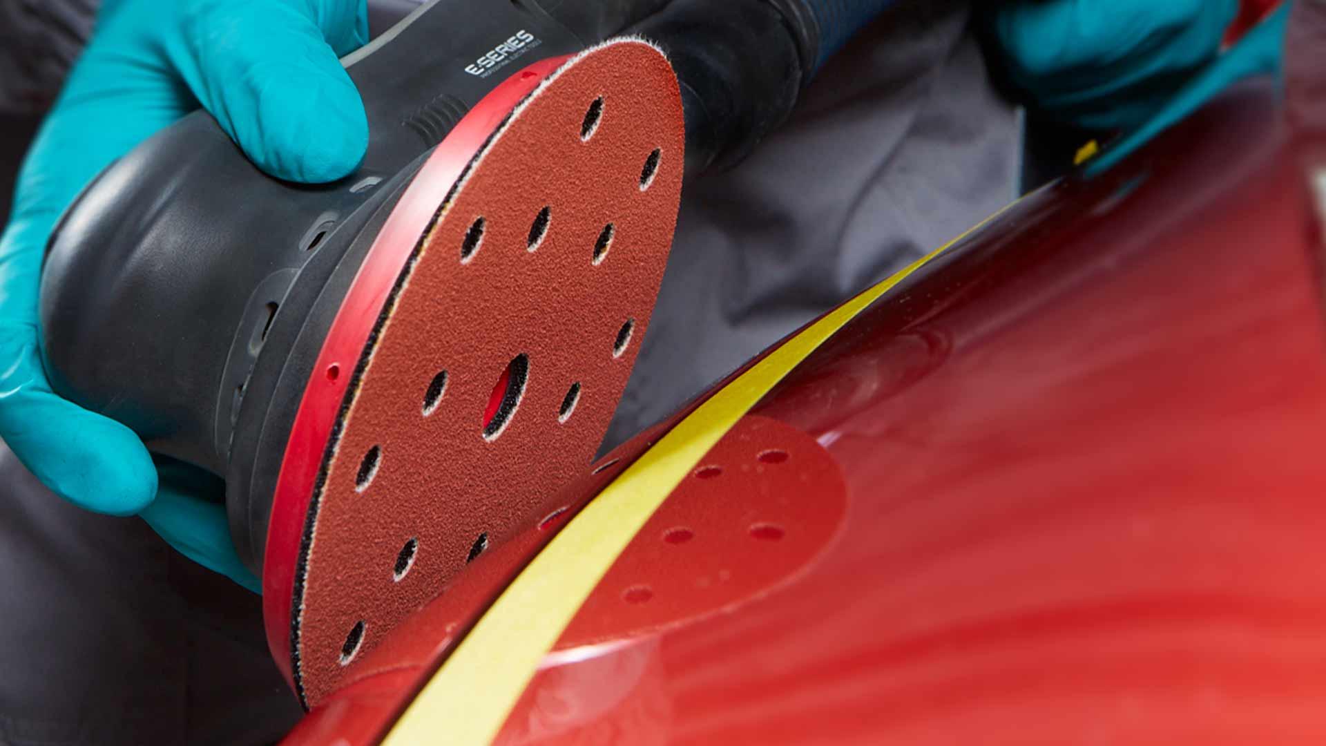 INDASA Abrasives Rhynogrip Red Line sanding red surface