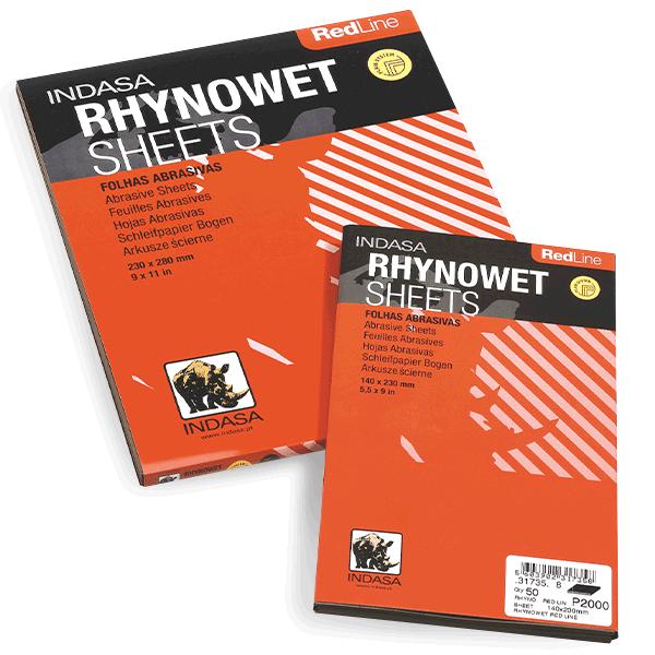 "INDASA RHYNOWET Plus Line sandpaper Wet Dry  9/""x 11/""  1500 Grit 50 Sheets"