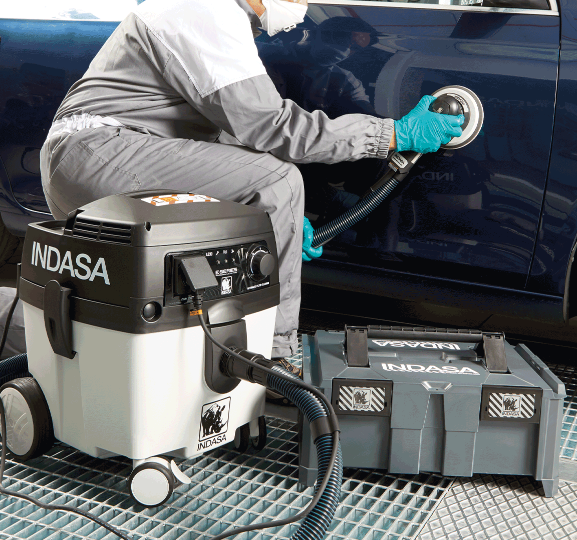 white sanding dust vacuum unit E-Series INDASA