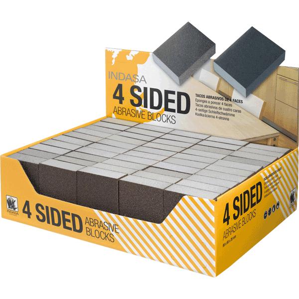 INDASA Abrasives Sponge Sanding 4 Sided Abrasive Blocks