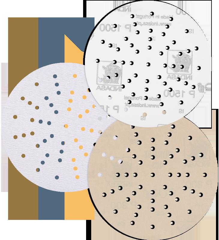 INDASA sanding discs ht line, plus line and film line