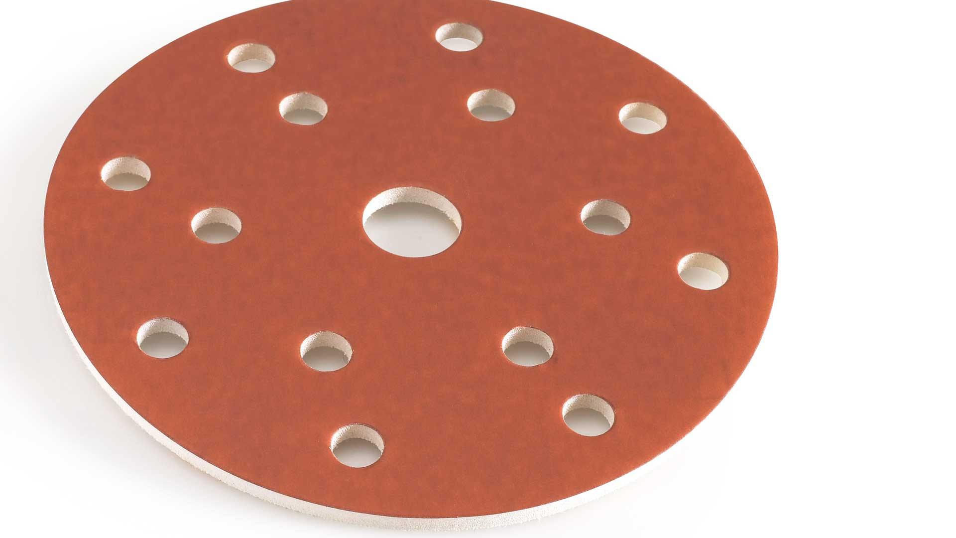 INDASA Abrasives Rhynofinish Red Line close up on white background