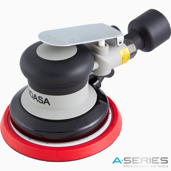 INDASA Abrasives black pneumatic air sander with central vacuum 125mm