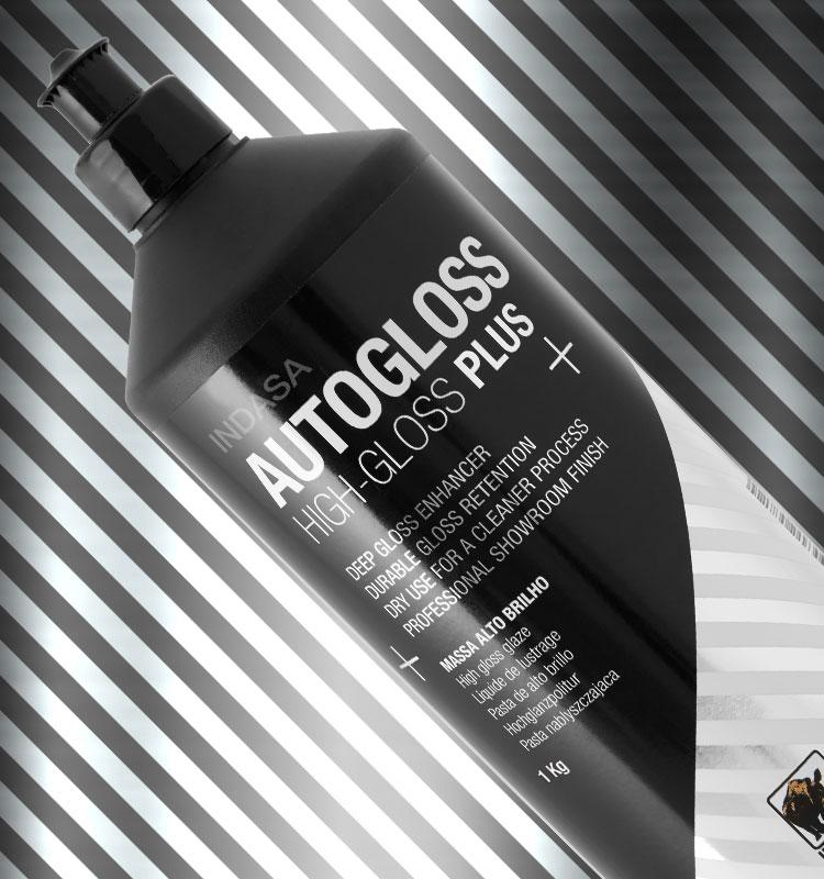 Garrafa preta INDASA Autogloss High-Gloss Plus