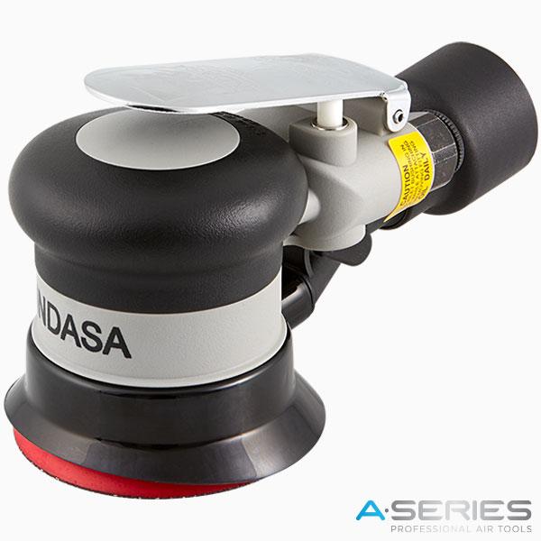black pneumatic air sander with central vacuum 75 mm INDASA