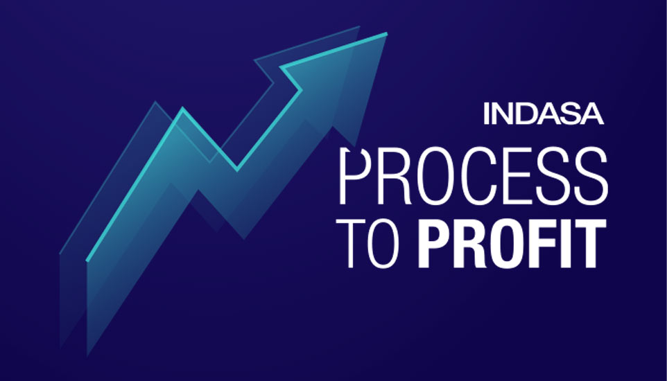INDASA's process to profit blue logo