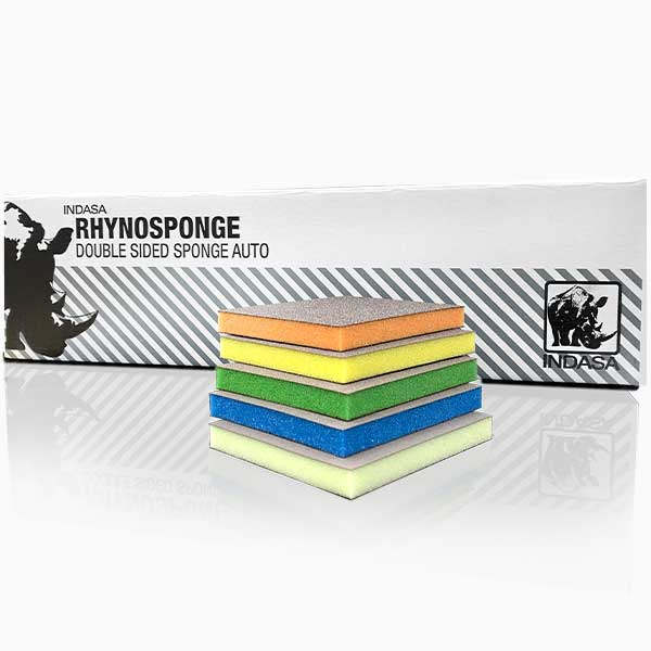 Rhyno Double Sided Sponges Auto INDASA