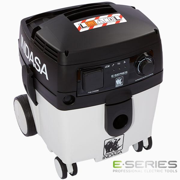 INDASA E-Series white vacuum unit 30l