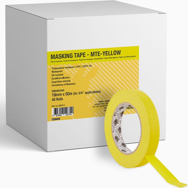 MTE-YELLOW Masking Tape INDASA Abrasives